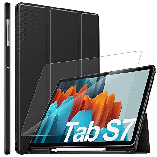 ELTD per samsung galaxy tab S7 Custodia Cover+ per samsung galaxy tab S7 Pellicola Protettiva, Cover e Vetro Temperato Pellicola per Samsung Galaxy Tab S7 (SM-T870/875) 11