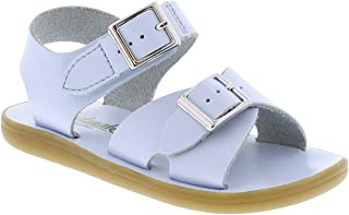 FOOTMATES Boy's Tide Hook-and-Loop and Buckle Sandal Light Blue - 1014