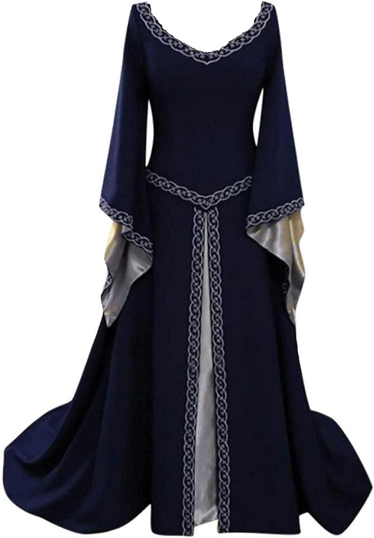 Womens Renaissance Vintage Free Shipping Cheap Bargain Gift Dress Royal Medieval Max 79% OFF V Court Ne