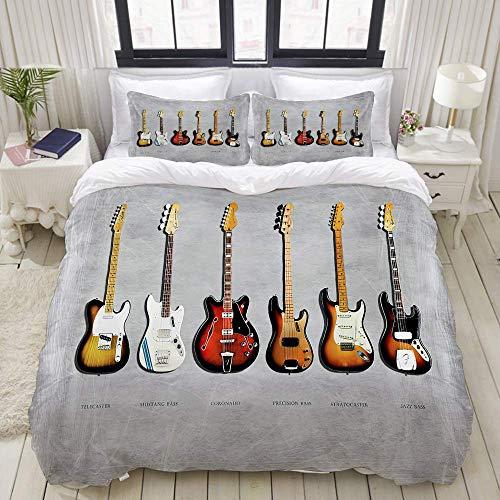 Funda nórdica, Fender Stratocaster Telecaster Bajo de precisión Mustang Bass Fender Guitarra...