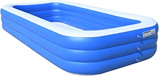 Ruixin Inflatable Swimming Pool, Full-Sized Inflatable Pool for Baby, Kids, Adult, Outdoor, Garden(146X74X24 in)