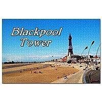 イギリスイギリスブラックプールタワージグソーパズル1000ピースゲームアートワーク旅行お土産木製