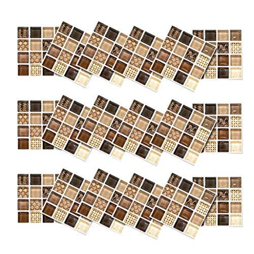 Maxpex 18 pegatinas de pared 3D autoadhesivas de simulación europea geométricas de azulejos adhesivos para decoración del hogar, decoración para sala de estar, dormitorio, arte moderno extraíble