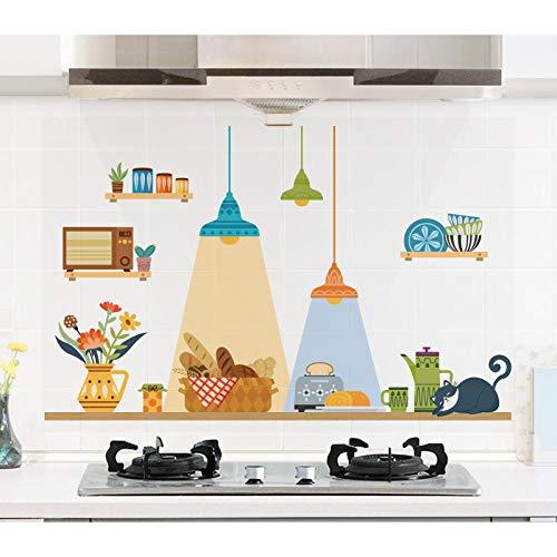 Stickers voor kinderen, creatief, transparant, keuken, waterbestendig, zelfklevend, voor kast, afzuigkap, gas, kast, wandtegels, behang, waterdicht Grand Un Moment de Loisir (Grand)