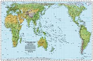 World Peters Projection Map, Pacific-centered