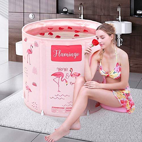 Bañeras de spa rosadas Bañeras plegables móviles para adultos Bañera de spa portátil para estudiantes en el hogar Piscina de inmersión para niños Bañeras de spa Baño de agua caliente de día frío