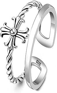 Helen de Lete Chrome Heart S925 Sterling Silver Open Ring