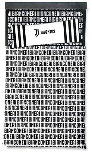 Casanov'è FC Juventus Set COMLETO Letto Lenzuola Singola 1P Juventus NUVO Logo 100% Cotone Misura 1 Posto in 3 Varianti (Variante 17)