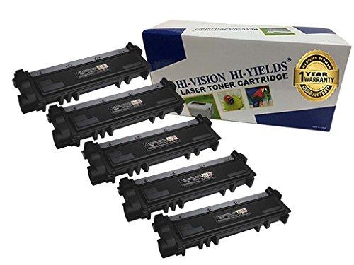 HI-Vision Compatible Toner Cartridge Replacement for Dell E310dw/ E514dw/ E515dw/ E515dn 593-BBKD PVTHG E514 E310 E515 Printer (5-Pack, Black)