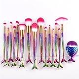 Amiley Hot Sale! Makeup Brush Set,16 pcs Makeup Brush Set Tools Make-up Toiletry Kit Wool White Make Up Brush Set (Mulitcolor)