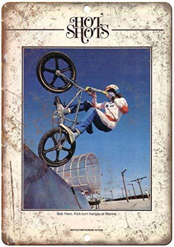Ellis Bob HARO BMX - Targa in Metallo in Stile retrò, per Negozi, Bar, casa, Garage