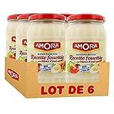 Amora Mayonnaise Recette Fouettée 465g (Lot de 6)