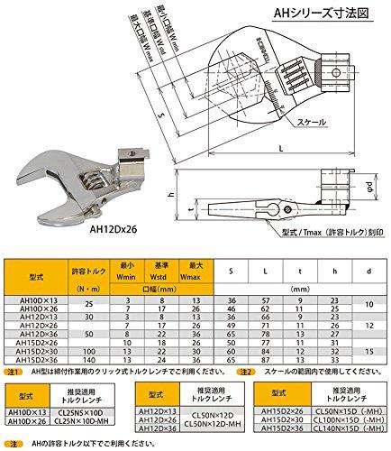 東日製作所 トーニチ アジャスタブル交換ヘッド AH15D2X26_4224