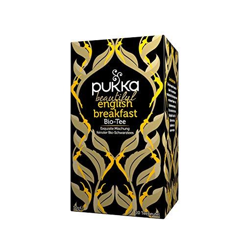 Pukka Bio-Tee Beautiful English Breakfast, 80 Teebeutel, 4er Pack (4 x 20 Stück)