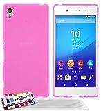 Muzzano F2373220 - Funda para Sony Xperia Z3 Plus/Xperia Z4 + 3 protecciones de pantalla, color rosa