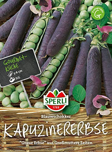 80547 Sperli Premium Erbsen Samen Blauwschokker| Altbewährt | Alte Sorte | Erbsen Saatgut