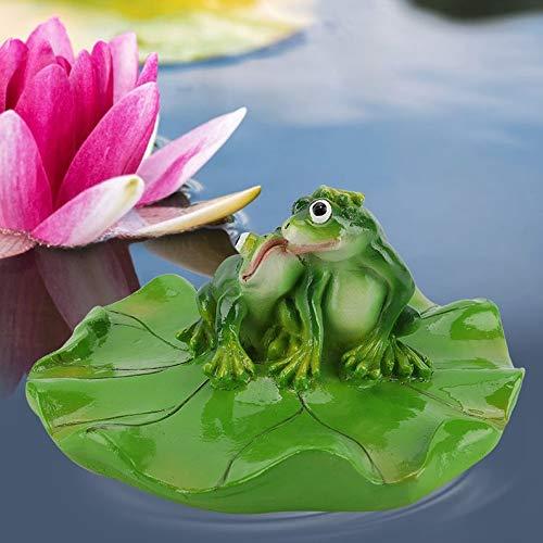 Duokon Schwimmbad Teich Schwimmende Tier Badewanne Garten Dekor Figur Künstliche Pad Realistische Lotus Ungiftig Schwimmende Wassermatte für Hausgarten Teich Aquarium