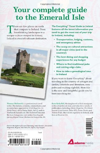 The Everything Travel Guide to Ireland: From Dublin to Galway and Cork... - 51Qm N3UBAL