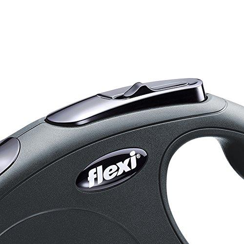 flexi Roll-Leine New Classic M-L Gurt 5 m schwarz für Hunde bis max. 50 kg - 2