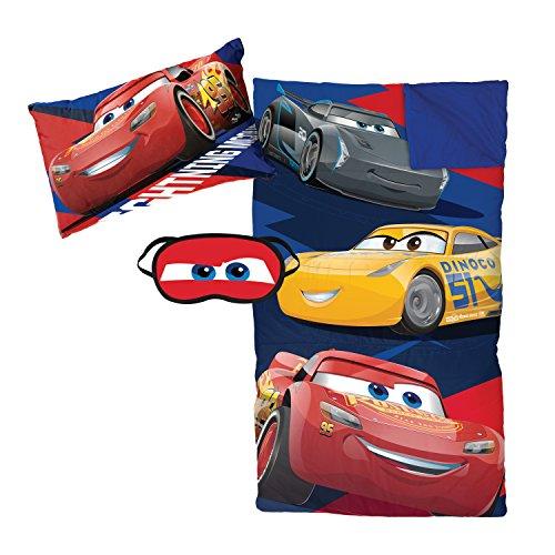 Jay Franco Disney/Pixar Cars 3'Lightning 3 Piece Plush Sleepover Set