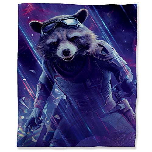 Guardians of the Galaxy Lightweight Thermal Fleece Blankets 130 x 180 cm, Avengers Superhero Movie Rocket Fluffy Cozy Blanket for Adults Kids or Pet