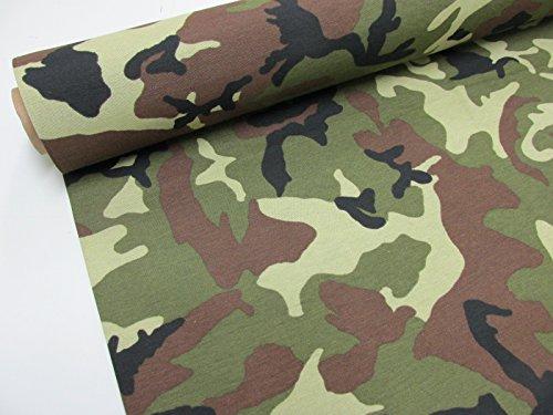 Confección Saymi Metraje 0,50 MTS Tejido loneta Estampada Ref. Camuflaje Verde, con Ancho 2,80 MTS.