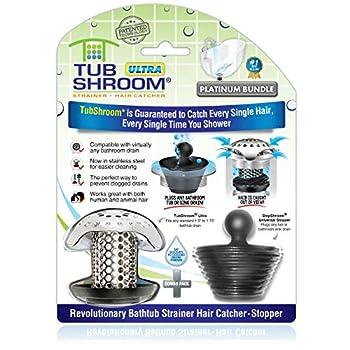 TubShroom Ultra Revolutionary Bath Tub Drain Protector Hair Catcher/Strainer/Snare Stainless Steel
