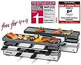 ROMMELSBACHER RC 1600 Raclette-Grill fun for 4+4 (Tischgrill, für 8 Personen, erweiterbar,...