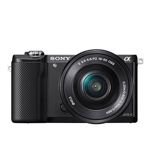 Sony ILCE-5000LB Appareil Photo Numérique Hybride, Capteur APS-C , 20,1 Mpix + Objectif 16-50 mm Rétractable - Noir