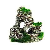 FiedFikt - Figura Decorativa de Resina para Acuario, Paisaje Artificial, decoración de montaña, decoración para Acuario, Cueva Oculta para pecera, 1 Unidad, D
