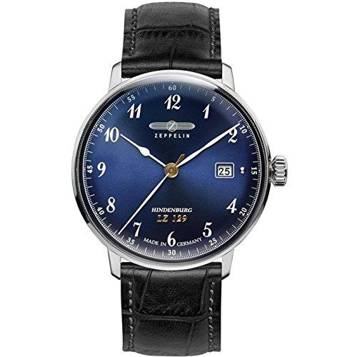 Zeppelin Unisex Chronograph Quarz Uhr mit Leder Armband 7046-3