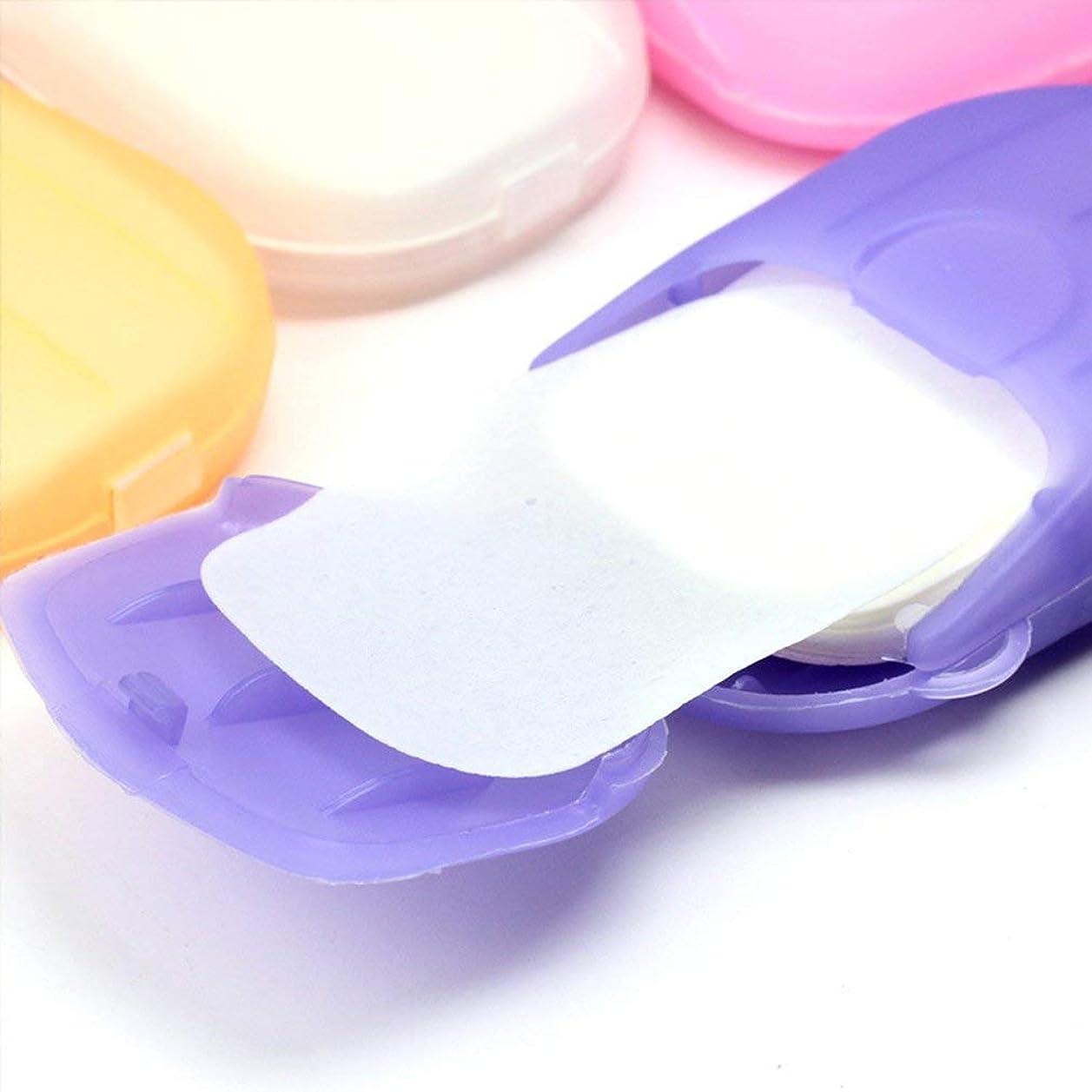 浸透する上へインフラ1PCS小型携帯手洗い石鹸フレークランダムカラー