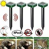 BESTINE Solar Mole Repeller IP65 Waterproof Ultrasonic Power Animals Repeller Pest Deterrent Repelling