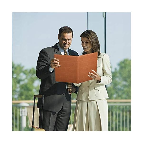 51Qm2WktCwL. SS600  - Leathario Portafolio A4 Piel Portadocumentos Cremalleras de Viaje Carpeta de Conferencias de Cuero Imitación Organizadora Profesional Comercial de Negocios con Calculadora