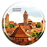 Weekino Deutschland Kaiserburg Nürnberg Kühlschrankmagnet 3D Kristallglas Touristische Stadtreise City Souvenir Collection Geschenk Starker Kühlschrank Aufkleber