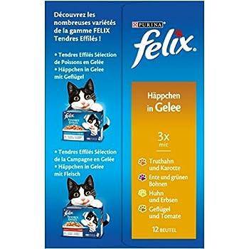 Felix Eminces en gelee Repas Chat Adulte 4 Mix Volailles & Lergumes 72 x 100 g