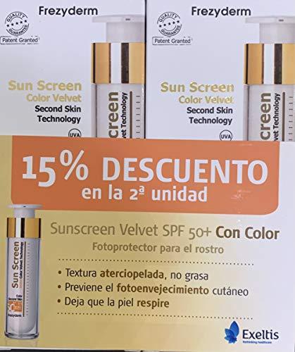 FREZYDERM SUN SCREEN VELVET FACE COLOR 50ML SPF50 PACK