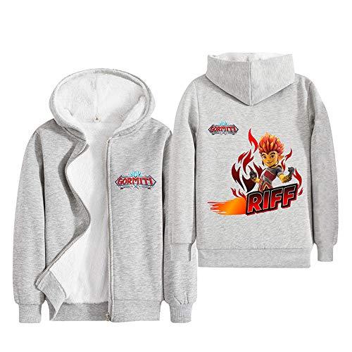 Playboi Carti Pantalones Escudo de moda de la manera salvaje Deportes de chaquetas de abrigo con capucha muchachos de los niños y niñas Casual Otoño e Invierno Hombre ( Color : Grey01 , Size : 110 )