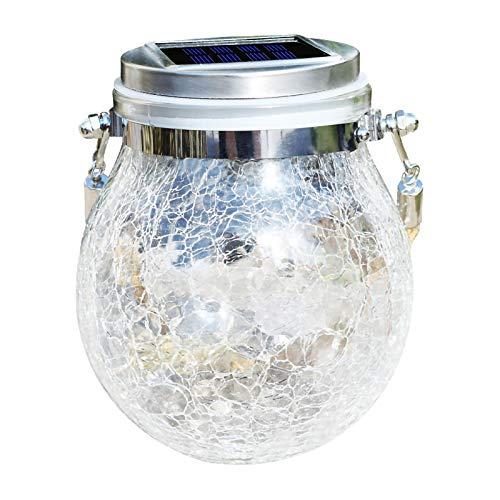 Luz Solar Agrietada para Colgar, Bola de Cristal, Tarro, luz Decorada, Luces navideñas, hogar y jardín, luz LED