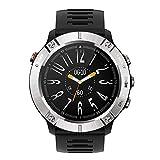 Orologio sportivo militare Smart Watch Bluetooth Orologio da polso impermeabile con frequenza cardiaca/Musica per dormire Riproduci tracker di attività all'aperto per uomo Donna Android iOS (Silver)