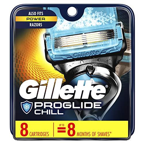Gillette ProGlide Chill Men's Razor Blades, 8 Blade Refills