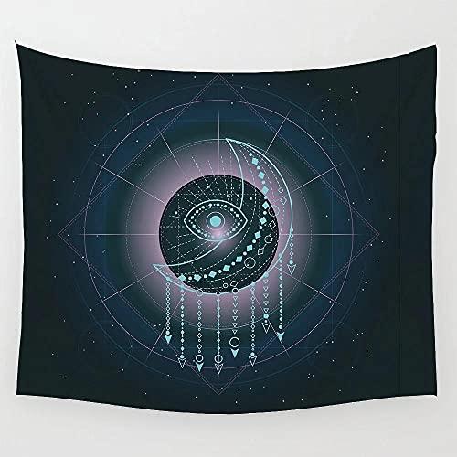Tapiz de cielo nocturno con estrellas y cielo estrellado con decoración artística para el hogar para sala de estar, dormitorio