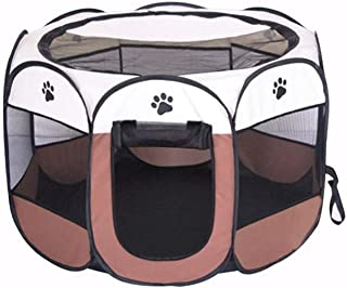 BODISEINT Portable Pet Playpen, Dog Playpen Foldable Pet Exercise Pen Tents Dog Kennel House Playground for Puppy Dog York...