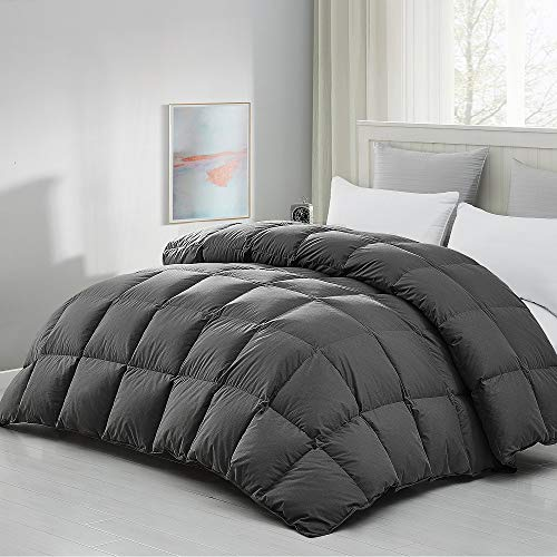 """Luxurious 120""""x98"""" Oversized King Goose Feather Down Comforter King Size , Duvet Insert, 63 oz Filling, 600+ Cleanliness, 100% Cotton Shell Down Proof with 8 Corner Tabs Hypo-allergenic All Seasons"""