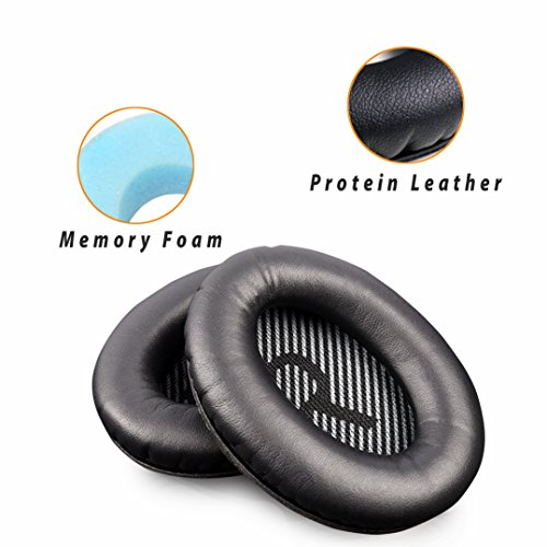 Replacement Earpad Cushions Compatible for Bose QuietComfort15 QC2 QC15 QC25 QC35 AE2, AE2i, AE2 Wireless, AE2-W, SoundTrue, SoundLink (Around-Ear Only) Headphones (QC25 Earpads(Shell Mat))