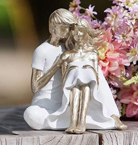 G.H. Figur, Skulptur LIEBESPAAR SOMMERWIND, Modell FÜR Immer, aus lackiertem Kunststein, Farbe Weiss & Champagner, durch wundervolles Design in Szene gesetzt, Größe 15 x 15 x 14 cm