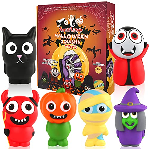 ANGELEMM Halloween Squishies Toys – Jumbo Squishies, Slow Rising Scented Kawaii Soft Squishys Squeeze Stress Relief Toys Gifts for Girls Boys Kids Adults Holiday Parties