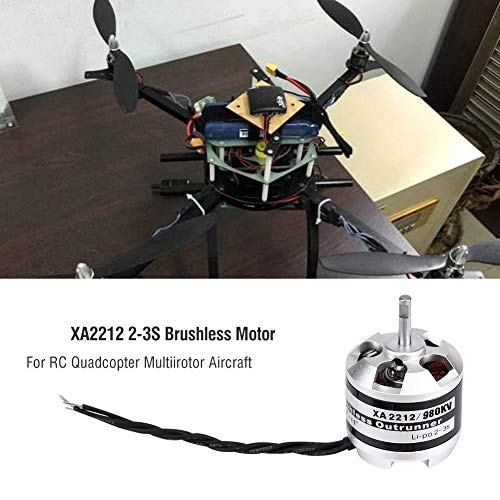 Bürstenloser EMAX XA2212 820KV / 980KV / 1400KV 2-3S Brushless Motor für RC Drone Quadrocopter Multi-Rotor Aircraft Zubehörteile( 980KV)