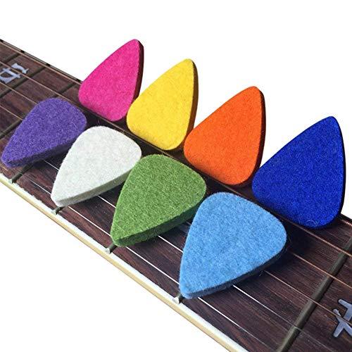Edge to Púas De Cuero para Ukelele, Púas De Fieltro/Púas para Ukelele Y Guitarra, Púas De Guitarra De 8 Piezas, Multicolor