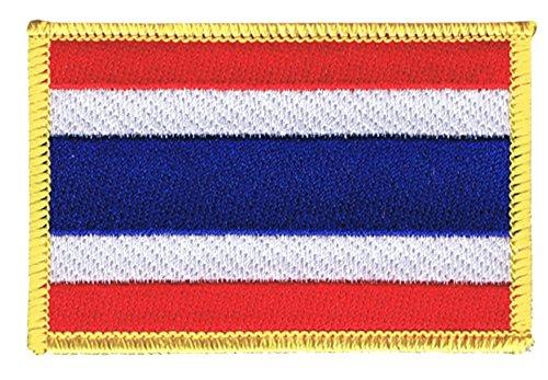 Flaggenfritze Flaggen Aufnäher Thailand Fahne Patch + gratis Aufkleber